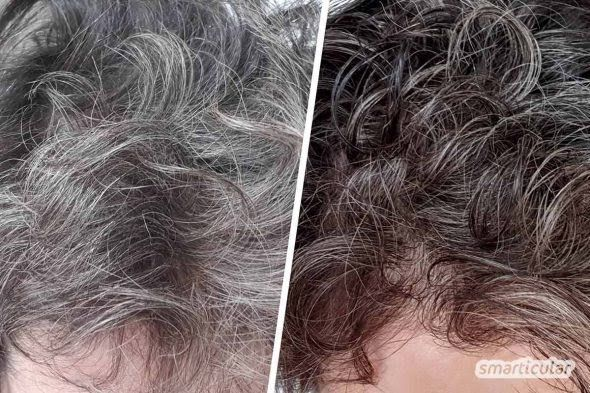Graue Haare natürlich tönen ohne Chemie   Haare tönen