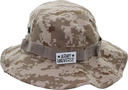 Desert Digital Camouflage Boonie Hat with ARMY UNIVERSE Pin Size XXLarge 8 d9fedd8aef3