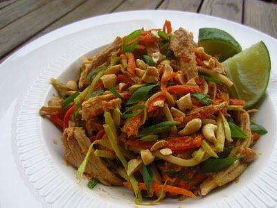 Gluten Free Blondie: Recipe: Thai Chicken Salad with Peanut Dressing