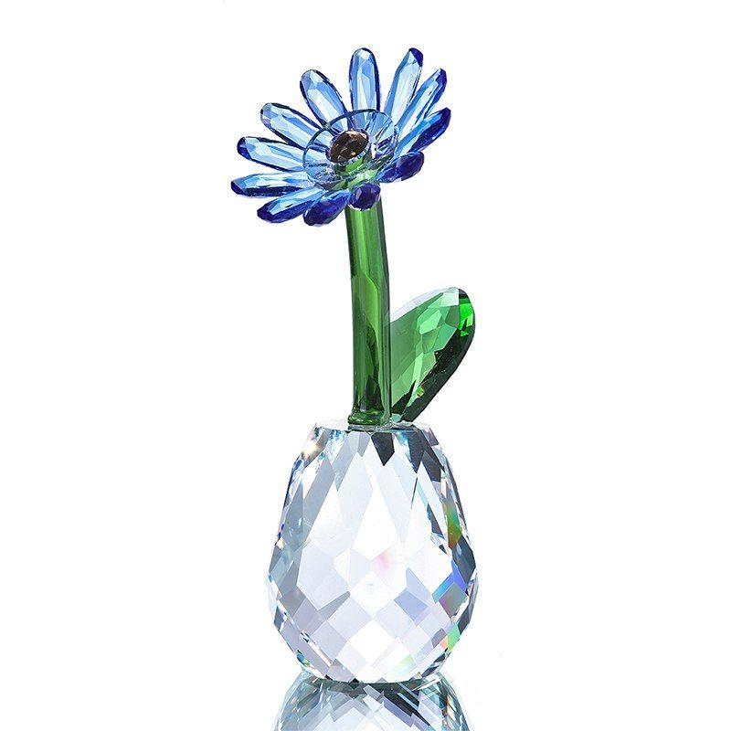 0f44b8f31 Crystal Dreams Daisy Figurine Glass Flower Paperweight Ornament Best Gift  for Valentine's Day,Birthday,