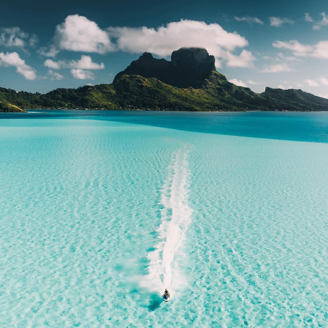 Bora Bora French Polynesia Paradise Follow Travel Lyfe Learn To Grow Your Instagram Properly Link Places To Travel Tropical Travel Travel Destinations