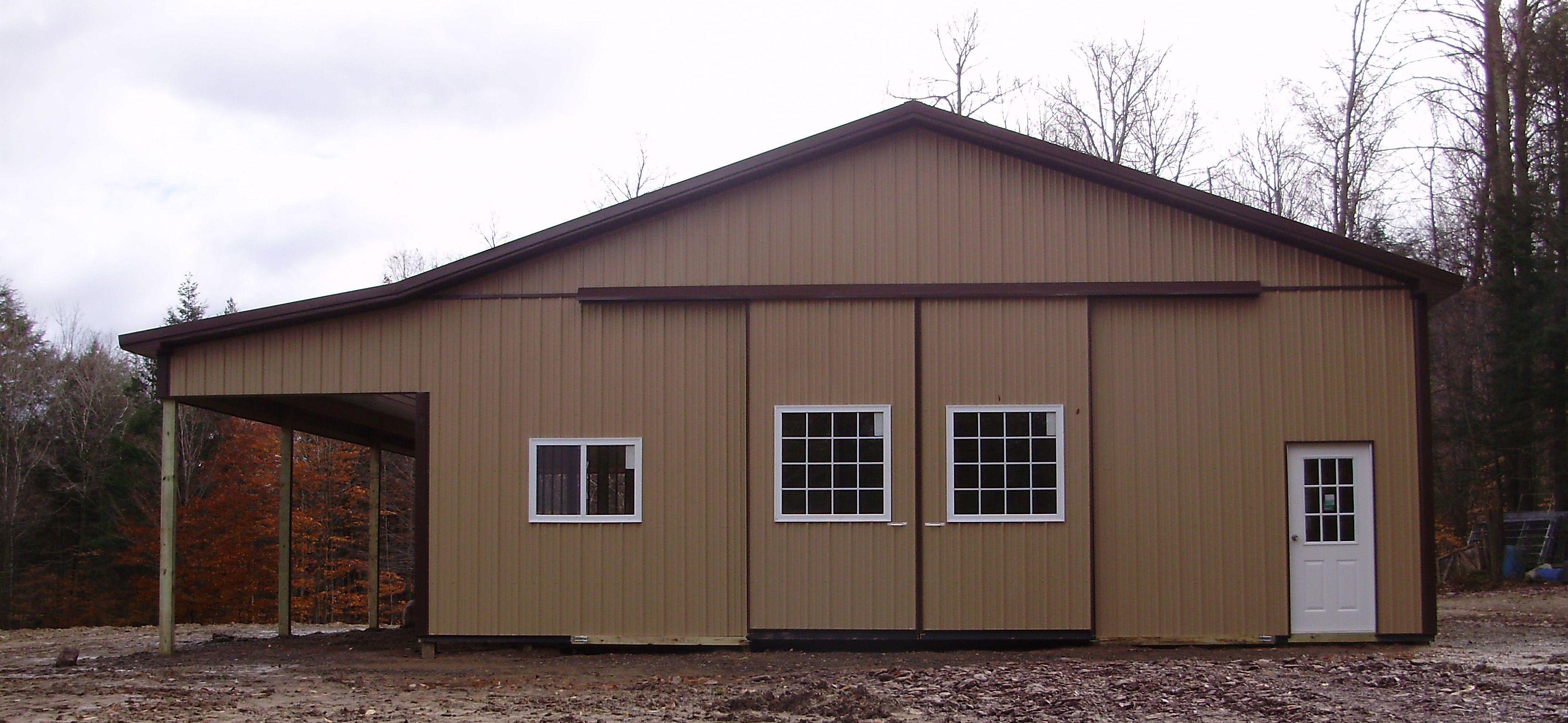Building dimensions 36 w x 48 l x 12 4 h id 256 36 for Pole barn dimensions