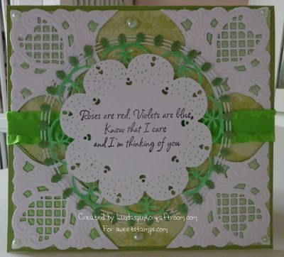SweetStamps Challenge 3/5/13 Green; DT  Linda