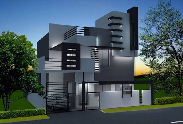 Two Floor Houses With 3rd Floor Serving As A Roof Deck Best Modern House Design Bungalow Design House Front Design