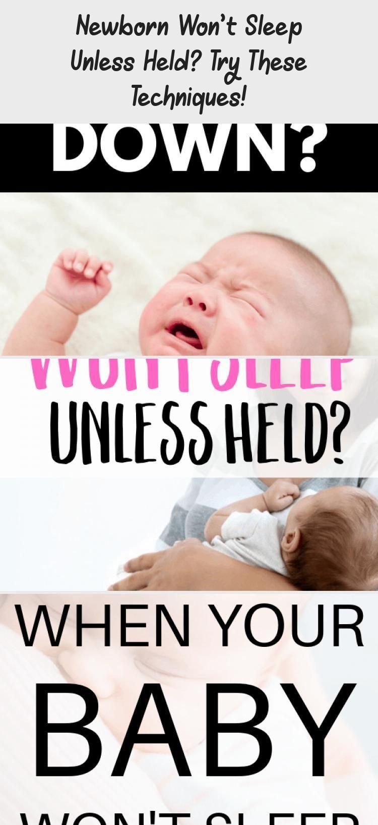 Neugeborene schlafen nicht, wenn sie nicht gehalten werden? Probieren Sie diese Techniken aus! - Ges...