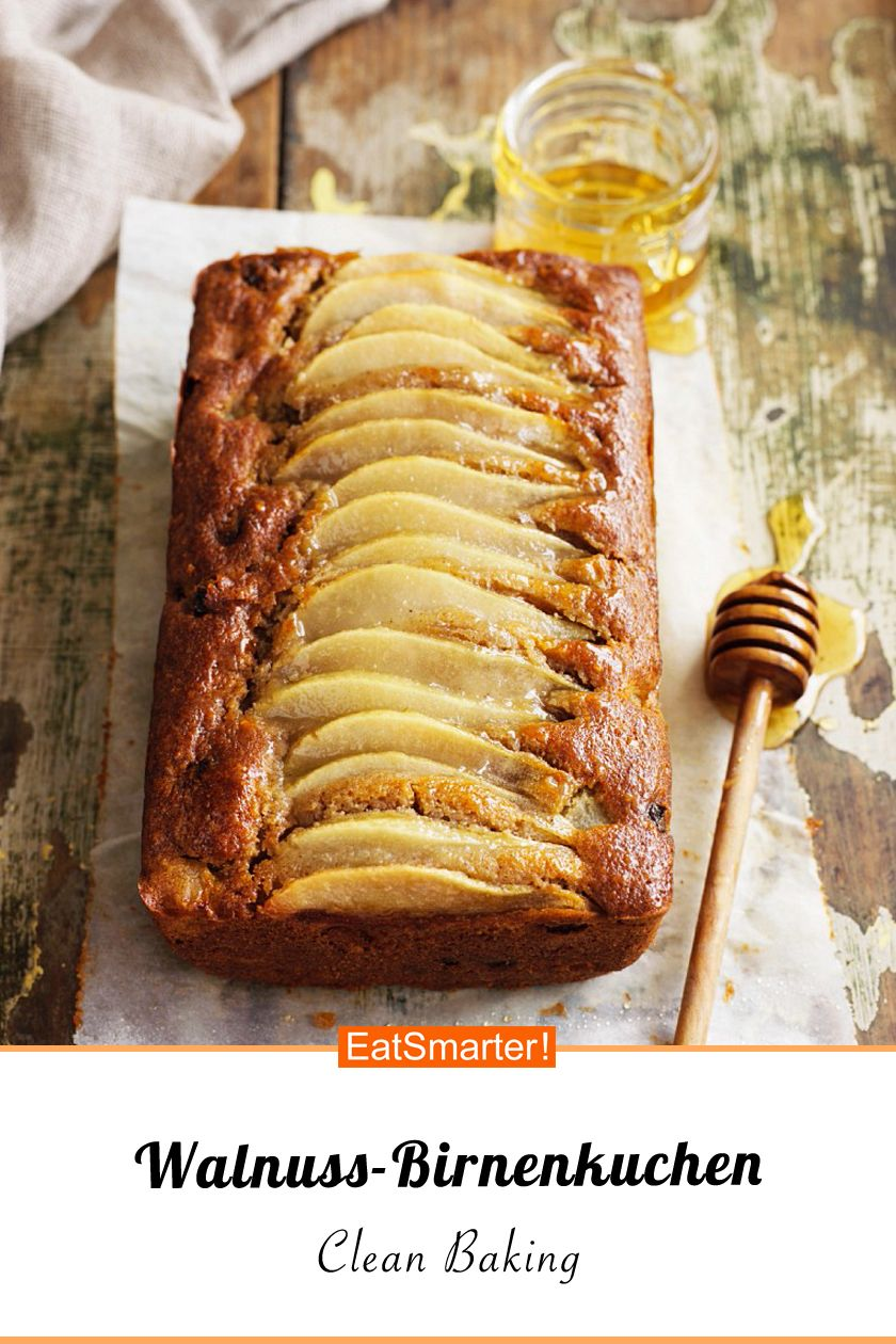 Clean Baking Walnuss-Birnenkuchen – Carey&CleanEatingS