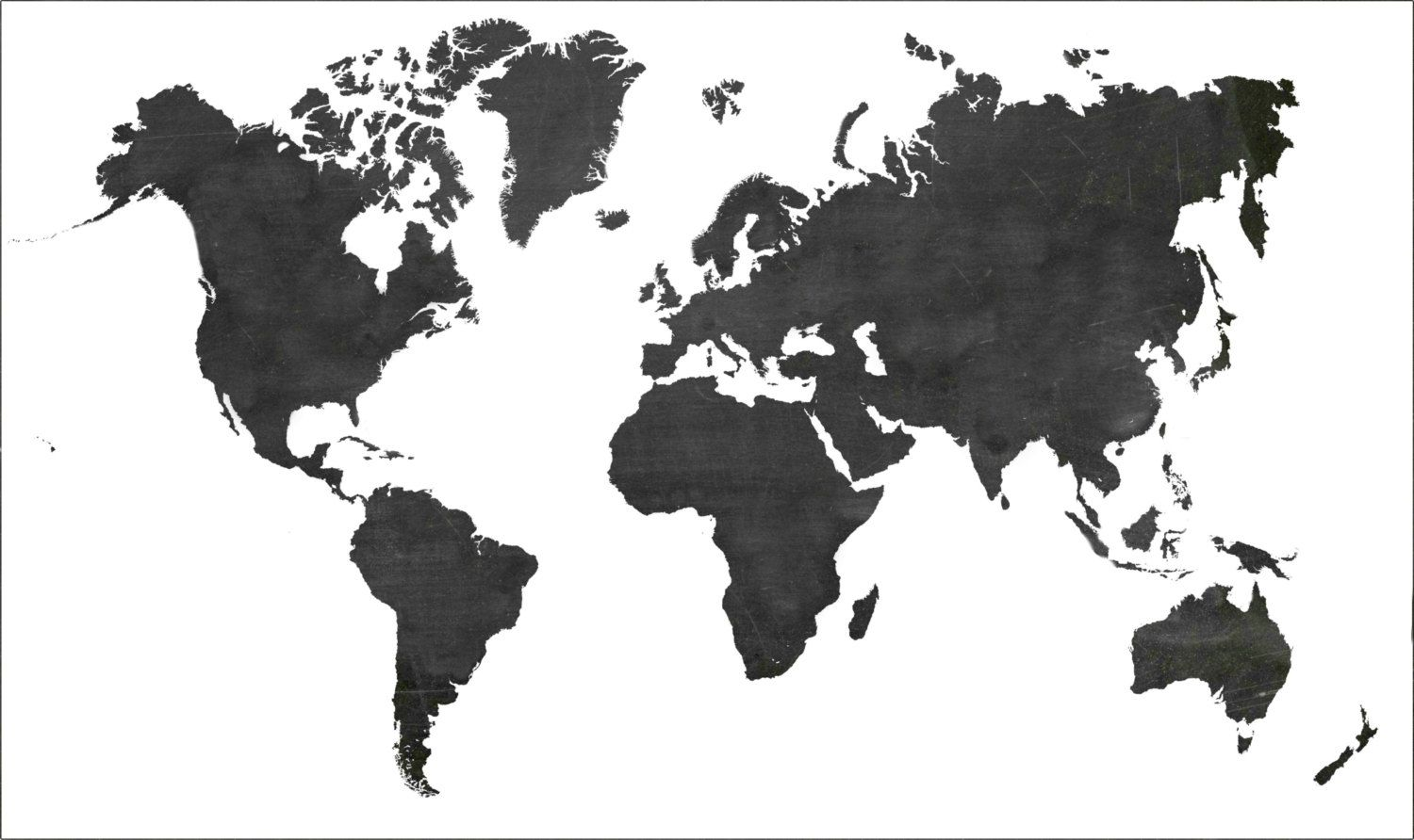 Black And White World Map Paper Poster Wall By Therustedarrow