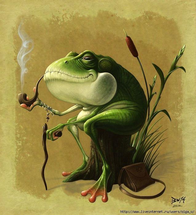 Прикольные открытки с лягушками с днем рождения 173