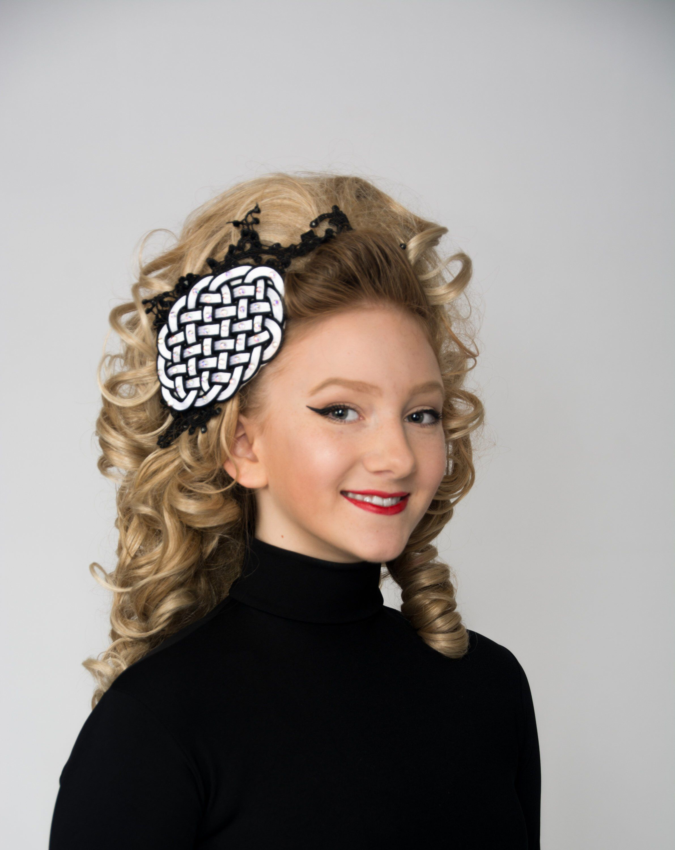 Irish dance headband, celtic knot and lace hair piece ...