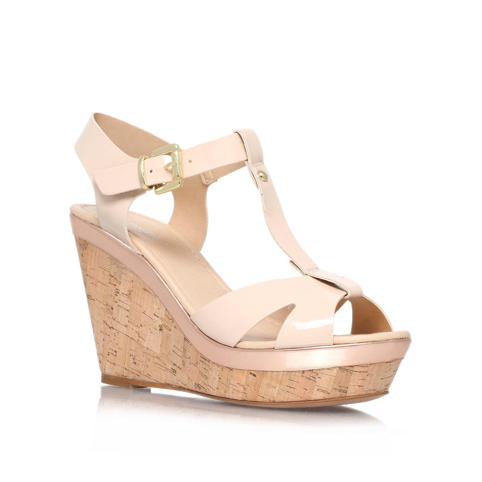 kabby nude high heel wedge sandals from Carvela Kurt Geiger ...