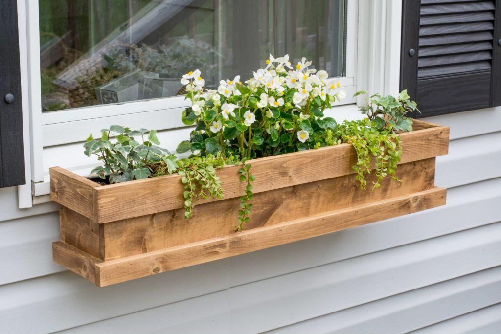 DIY Cedar Window Boxes Window box flowers, Diy window