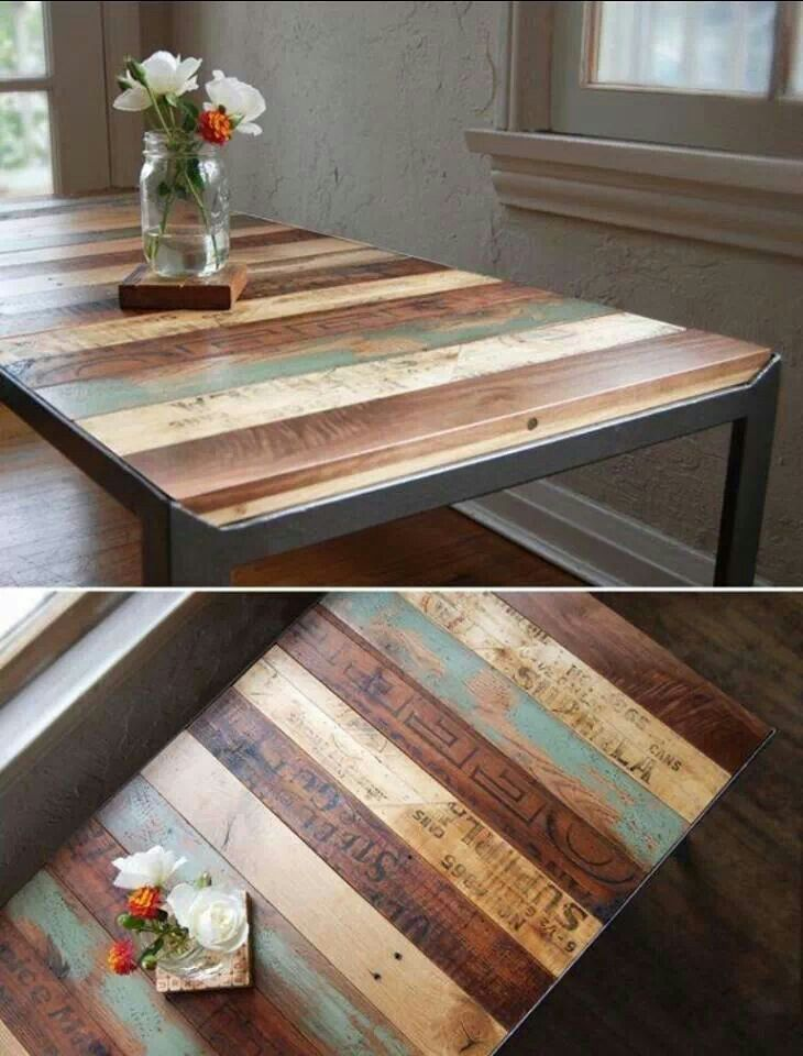 pallets made into furniture. Pallets And Old Crates Made Into A Table Furniture