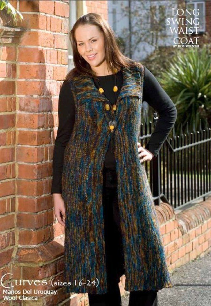 Long Swing Waist Coat in Manos del Uruguay Clasica Wool. Discover more Patterns by Manos del Uruguay at LoveKnitting. The world's largest range of knitting supplies - we stock patterns, yarn, needles and books from all of your favorite brands.