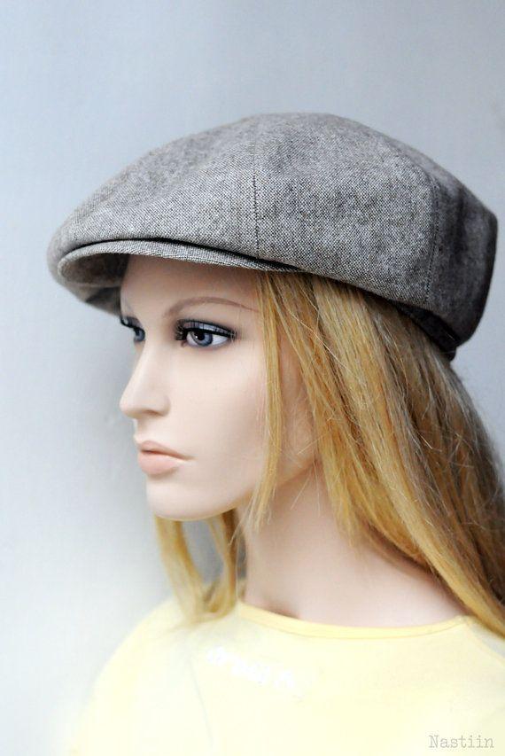 b99b0614b0 Mens newsboy cap Womens newsboy hat Brown drivers cap Newspaper boy ...