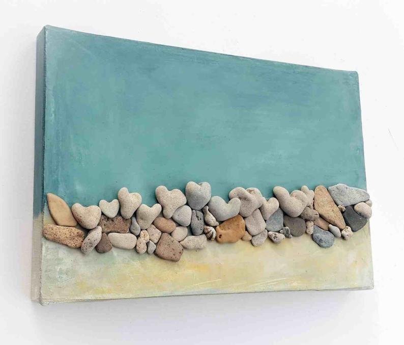 Unique Passover Gift Gift For Host Beach House Wall Decor Israel Handmade Beach Heart Rocks Medbeachstones Pebble Art Beach Pebbles In 2020 Beach House Wall Decor Pebble Art Beach Rocks Crafts