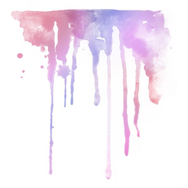Watercolor Drips Liked On Polyvore Featuring Fillers