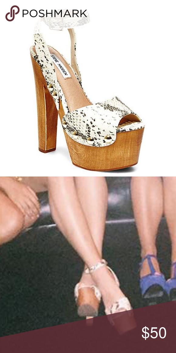 c6e8753a7c0 Steve Madden Heels Steve Madden snakeskin platform heels. Worn only ...