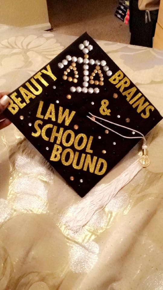 decorated graduation cap  law school
