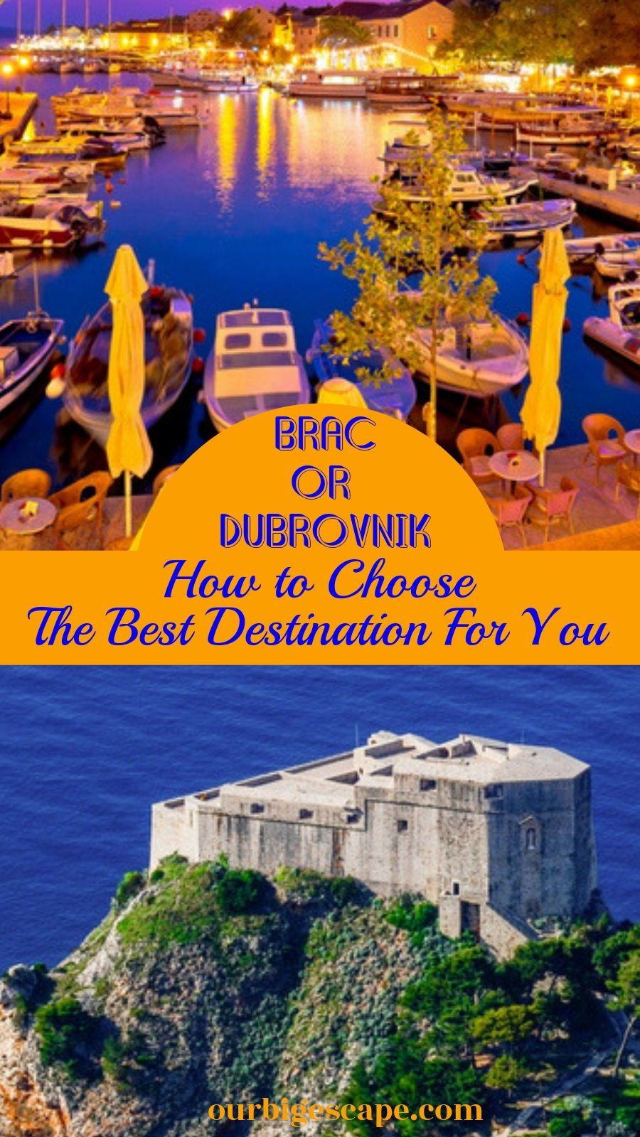 Brac Croatia Vs Dubrovnik Croatia Eastern Europe Travel Old Town Hotels Hot Travel