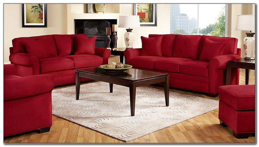Red Microfiber Living Room Set #red #living #room #set #ideas