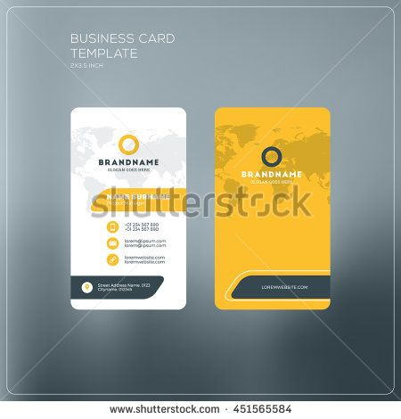Business card print template with company logo black and yellow business card print template with company logo black and yellow colors clean flat design reheart Image collections