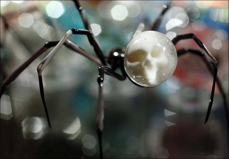 An incredible spider-skull marble concoction!