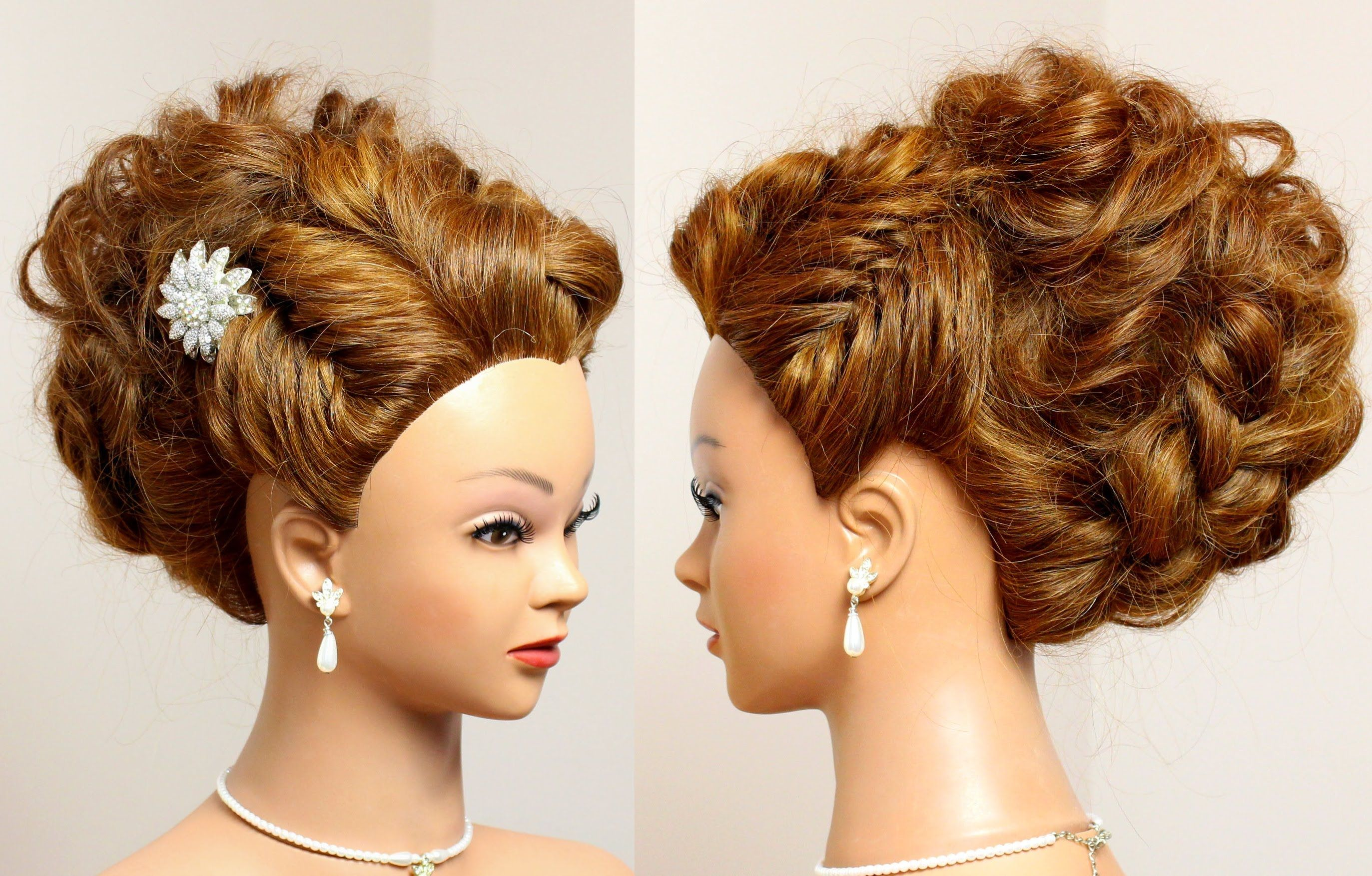 Prom Wedding Updo For Long Hair Tutorial Youtube 6 Coiff Vido