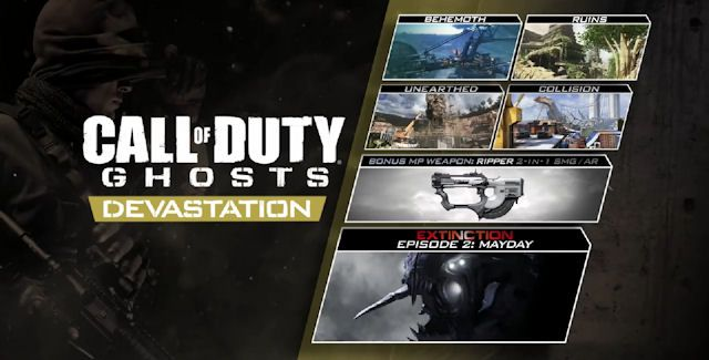 Call Of Duty Ghosts Devastation Dlc Pack Coming To Playstation And Windows Pc Players Thursday 8th May 2014 Call Of Duty Call Of Duty Ghosts Devastation