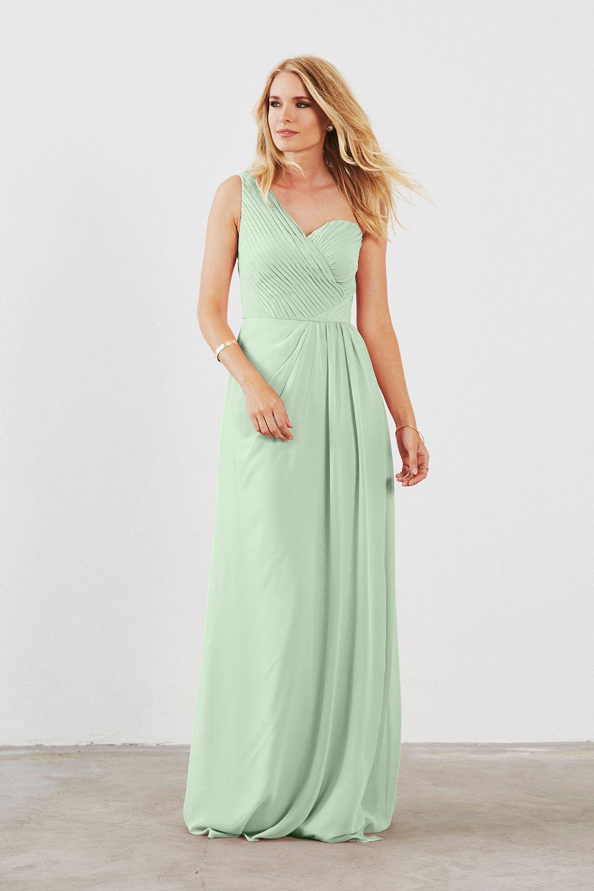 Dove & Dahlia Louisa Bridesmaid Dress in Sage Green in Chiffon ...