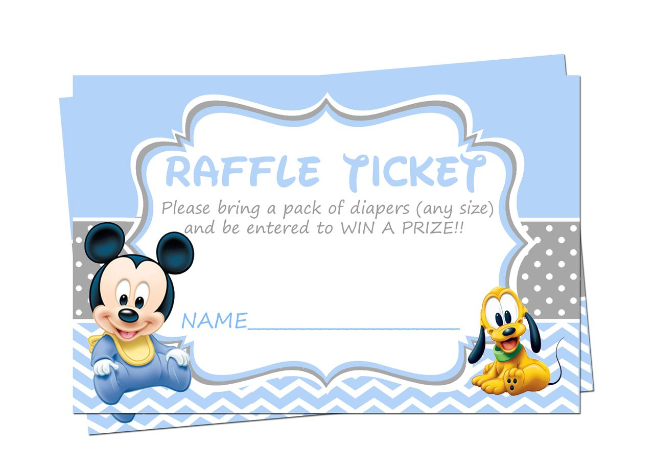 Baby Shower Baby Mickey Mouse Invite on Etsy, $10.00 | Products I ...