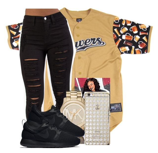 """""""Im Back"""" by carlace ❤ liked on Polyvore featuring Michael Kors, Altec Lansing and NIKE"""