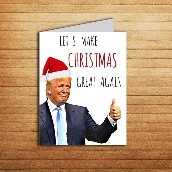 Donald Trump Christmas Card By EnjoyPrintable Christmascard Printable Boyfriend Gift Donaldtrump Funny Holiday Yuge Him