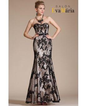 HERA - dlhé luxusné úzke čipkované spoločenské šaty  0792c9c8e15
