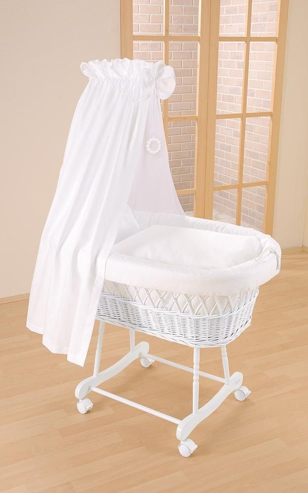 Blue Almonds | Wicker Drape Crib In White  Pictures Gallery