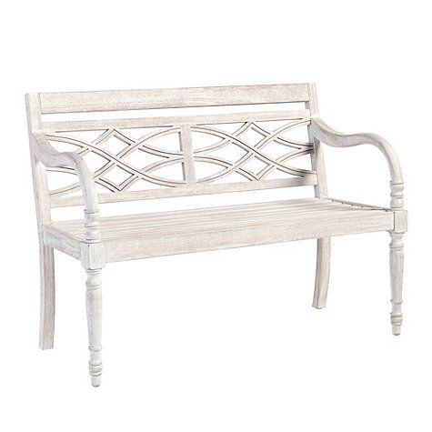 Incredible Ceylon Whitewash Garden Bench No 5 Inzonedesignstudio Interior Chair Design Inzonedesignstudiocom
