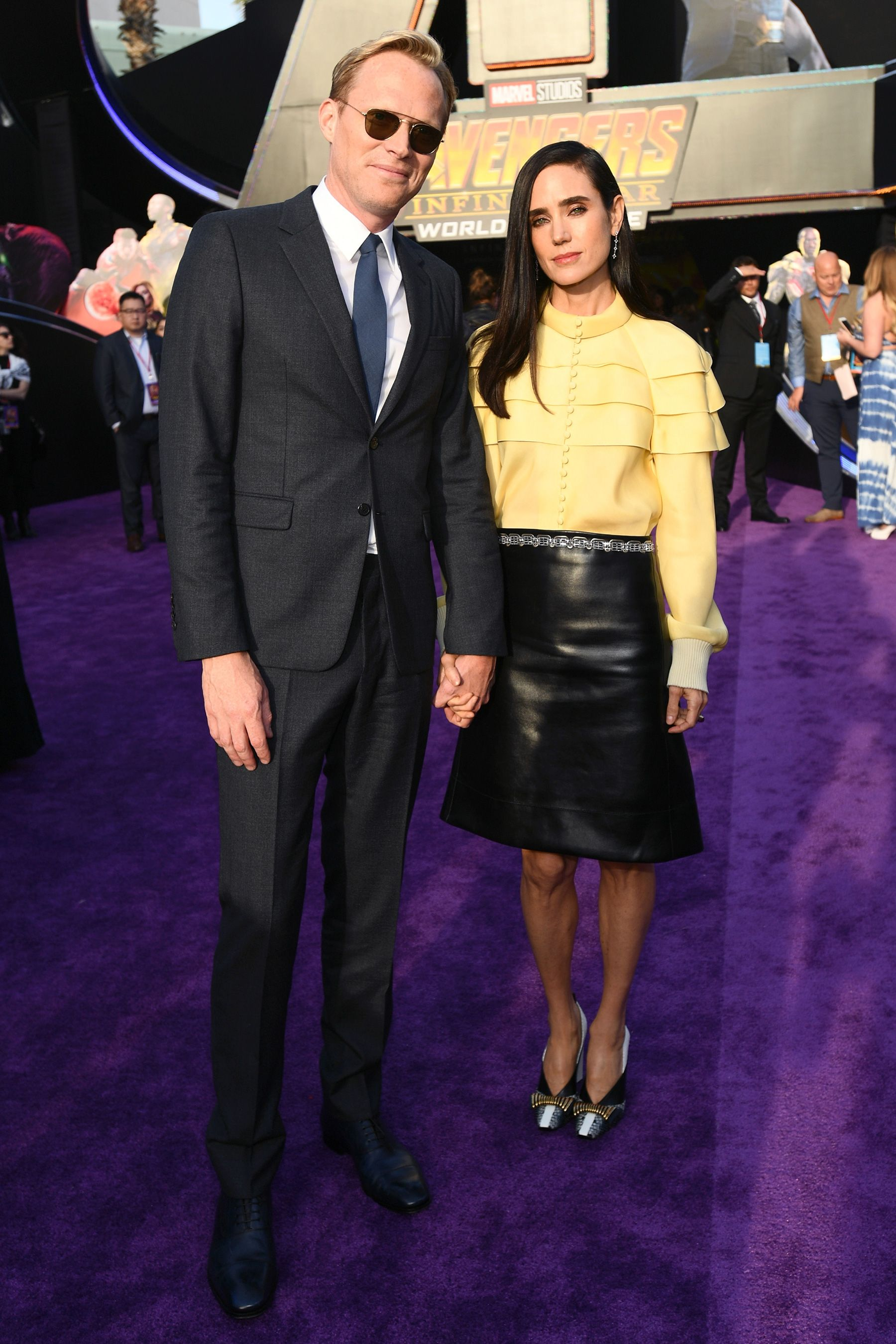 See All The Stars At The Avengers Infinity War World Premiere Jennifer Connelly Marvel Actors Paul Bettany