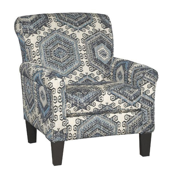 Best Casual Contemporary Indigo Blue White Accent Chair 400 x 300