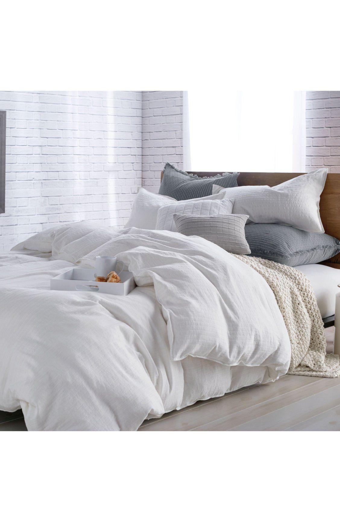 Subtle Stripes Make Their Mark On A Lightweight Cotton Duvet