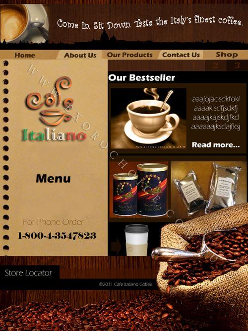 Coffee Company Webpage Design Sample Webpage Design For A Coffee Shop Company Webpage Design Fine Coffee Coffee Shop