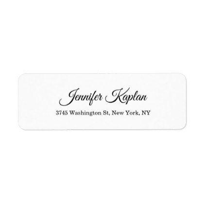 Creative Classical White Minimalist Professional Label