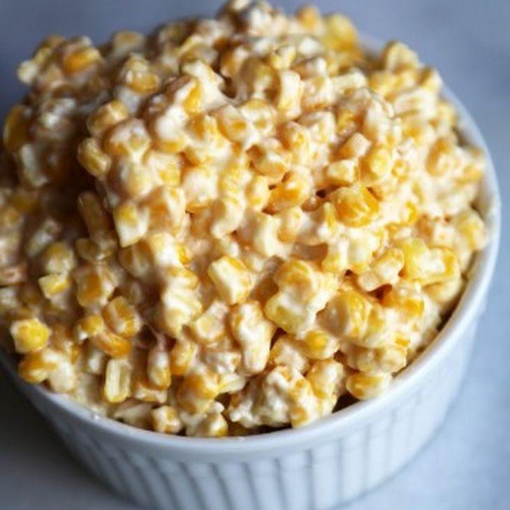 Crock Pot Creamed Corn Recipe Side Dishes with frozen corn, cream cheese, butter, sugar, salt, pepper