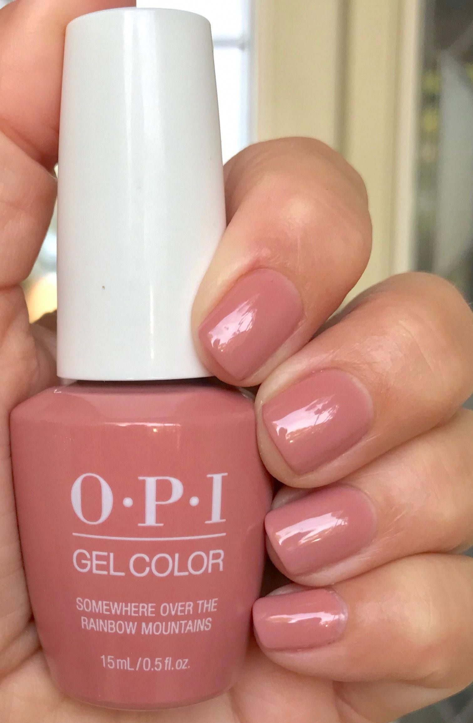 Opi Somewhere Over The Rainbow Mountains Gelcolor Peru
