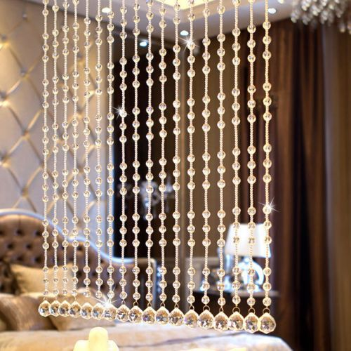 Luxury Shiny Crystal Glass Beads Window Door Curtain Room Divider
