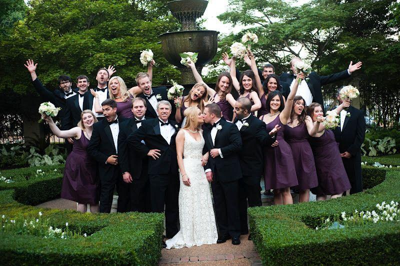 Bridesmaids : plum dresses