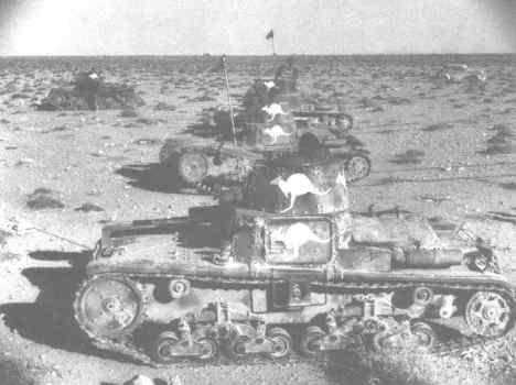 Captured Italian Tanks in Australian Service in North Africa