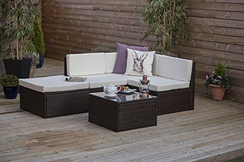 Corner Sofa Outdoor Furniture Covers Armen Living Barrister Cream Pin By Jordan Leah Bradshaw On Garden Rattan Modular Set Wicker