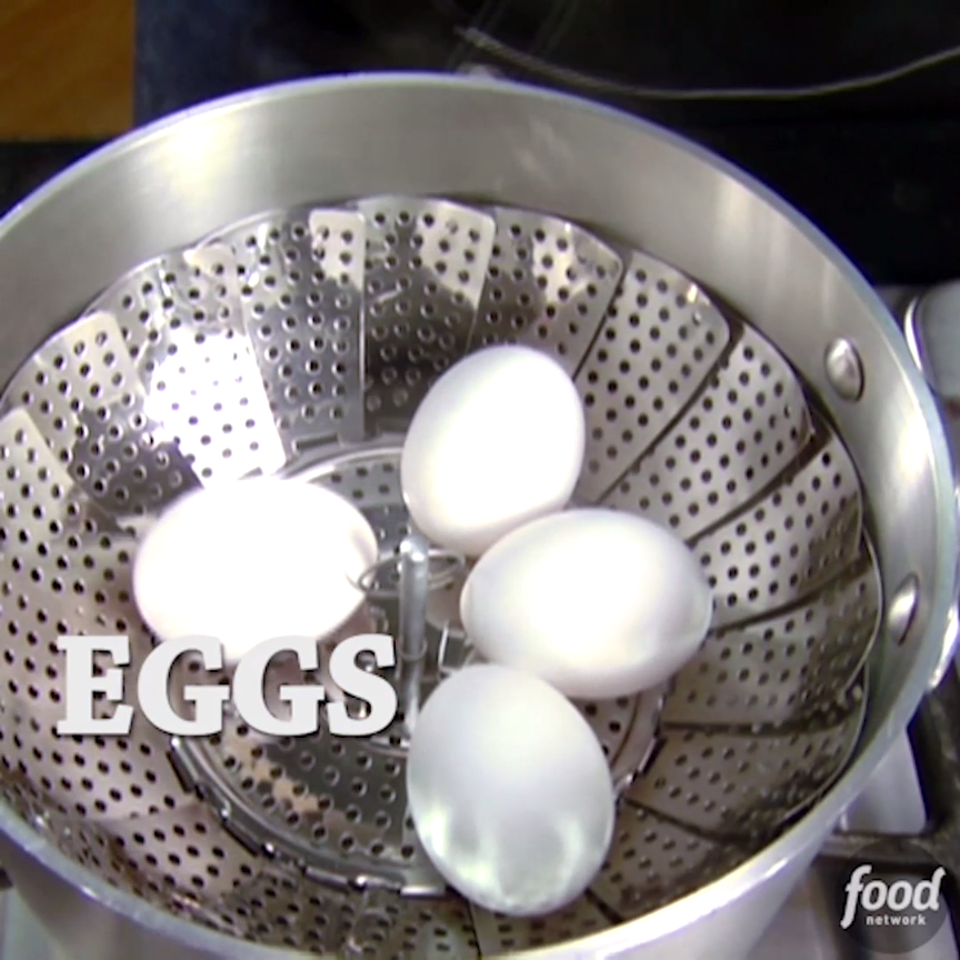 Alton Brown explains a foolproof way to hardcook not boil eggs