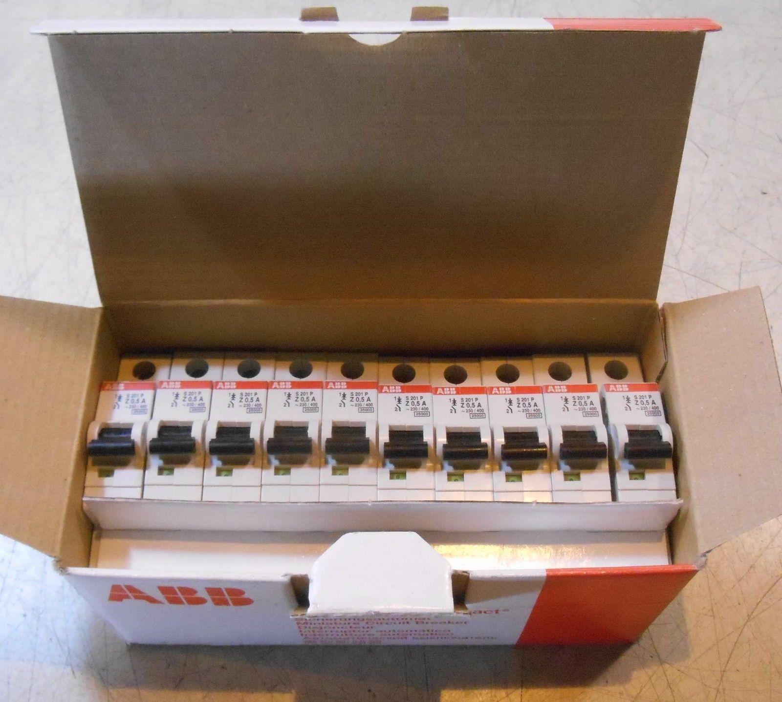 New Box Of 10 Abb Circuit Breakers S 201p 2cd S281 001 R0158 Breaker Labels Ebay Link