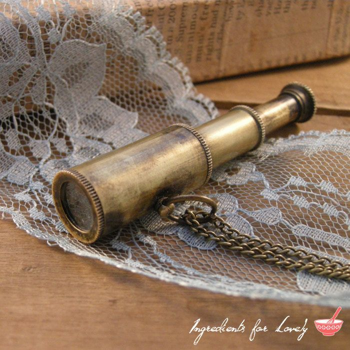 Brass telescope vintage fully functional spyglass antique style with rose wood box