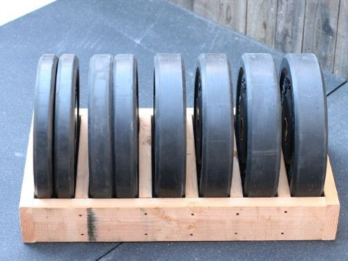 Plate Storage Projects - Garage Gym Organization DIY bumper plate storage box - very simple to make yourselfDIY bumper plate storage box - very simple to make yourself